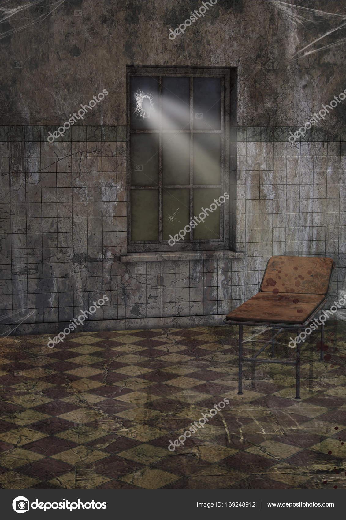 Abandoned Hospital Room Stock Photo
