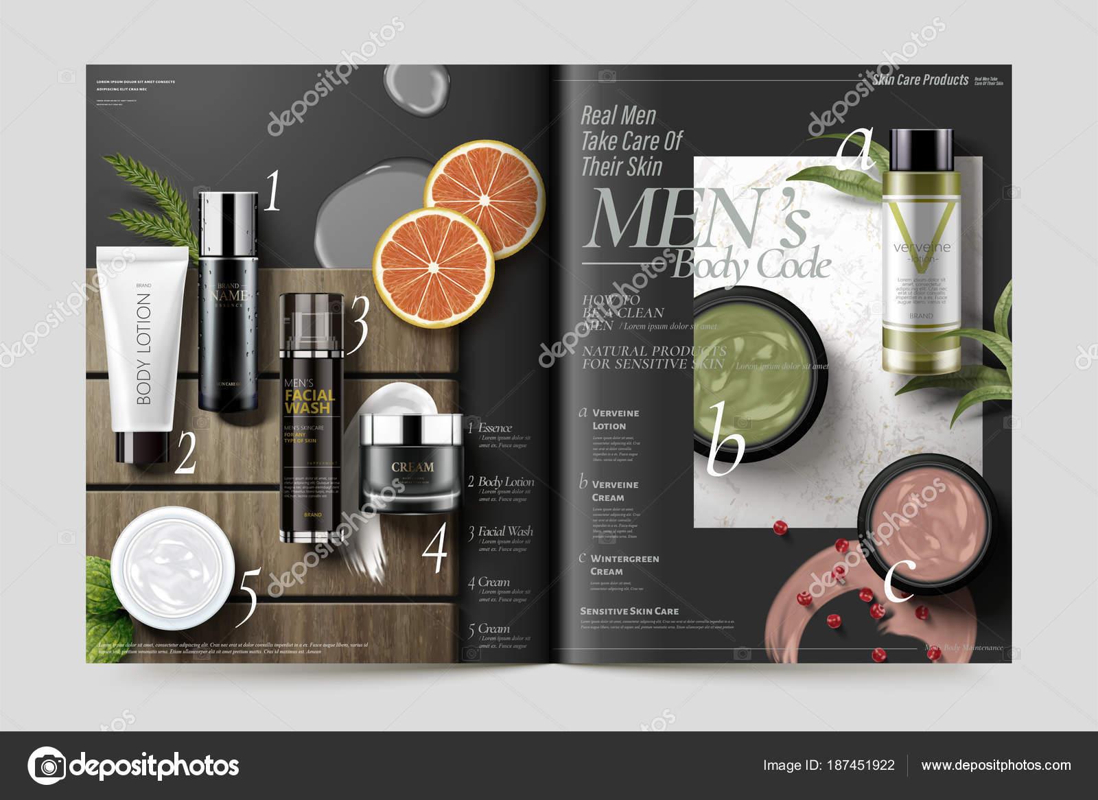 Plantilla revista cosmética — Vector de stock © MITstudio #187451922