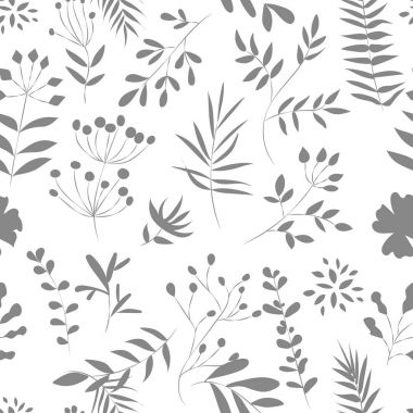 pattern of a plant on a white background