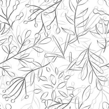 pattern of a plant on a white background, vector illustration