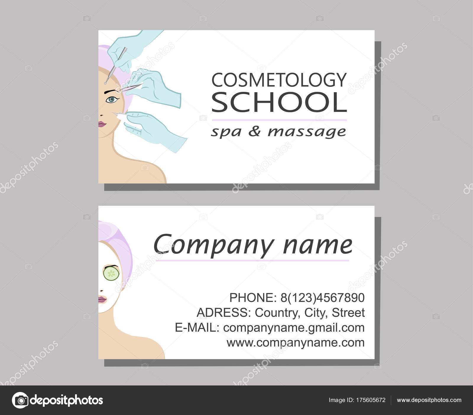Business cards of the cosmetologist stock vector katyarusha beauty skincare and cosmetology cards of the cosmetologistauty and freshness of the woman face vector illustration vector by katyarusha colourmoves