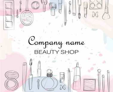 shop cosmetics, makeup, vector illustration