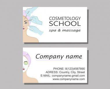 business cards of the cosmetologist