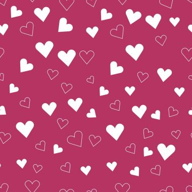 Happy Valentine's day. pattern of hearts