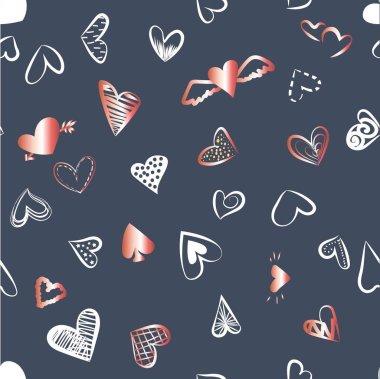 a pattern of hearts for Valentine's da