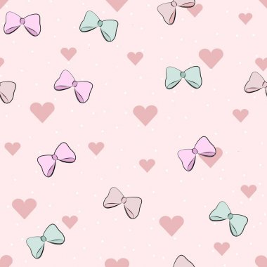 pattern for Valentine's day. romantic cartoon background in gent