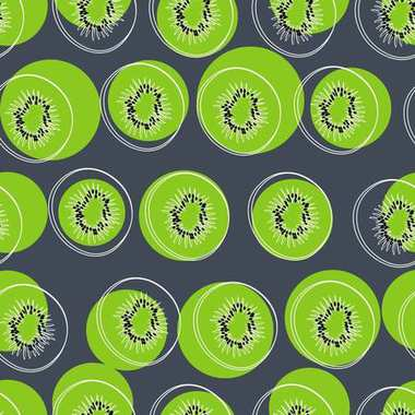 the pattern of kiwi, colored background, vector illustratio