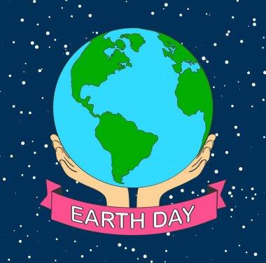 stock vector cartoon earth illustration planet smile.earth day c