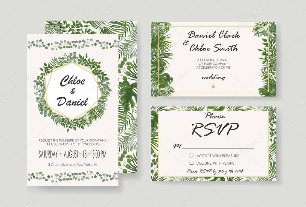 New Wedding Invitation Designs: Svatební Pozvánka, Rsvp Moderní Karta Design. Vektor