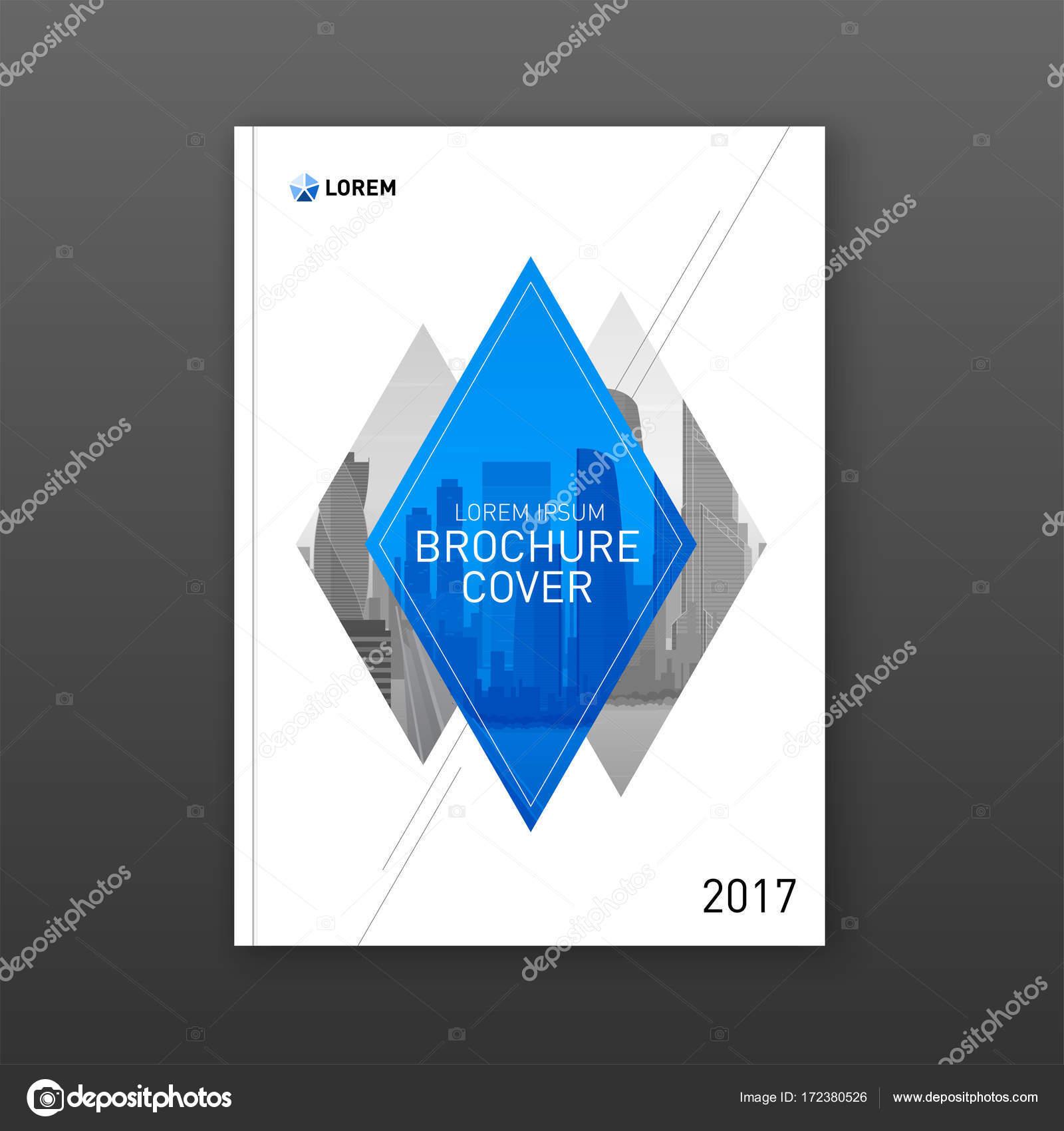 Diseño de portada folleto para negocios — Archivo Imágenes ...