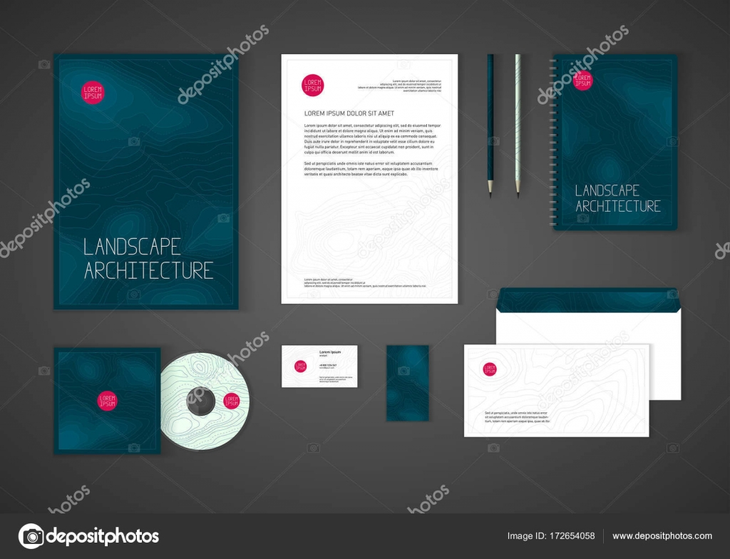 Minimalistic corporate identity template for stock vector stationery template design for real estate business brochure cover letterhead envelope business card cd cover vector by sundali reheart Images