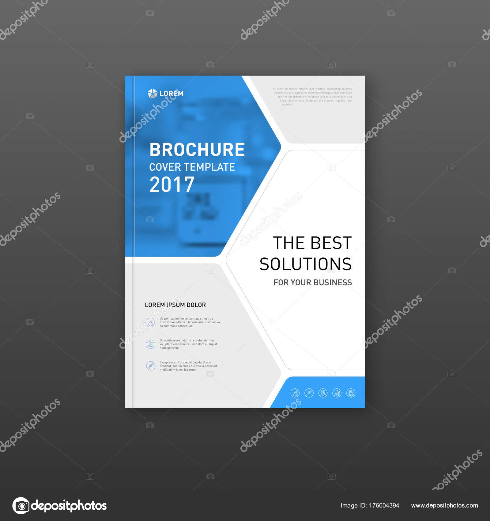 Medical brochure cover template, flyer design layout. Stock Vector In Pharmacy Brochure Template Free