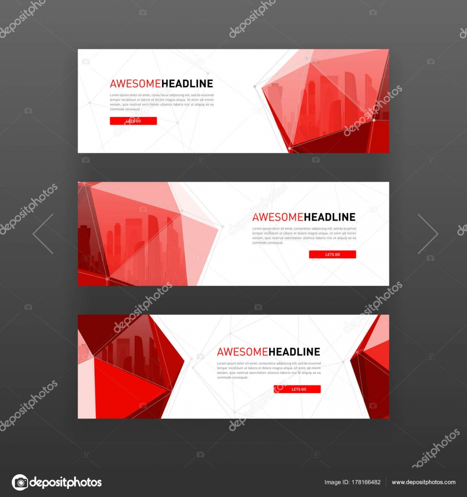 3d lowpoly solid abstract corporate banner template stock vector 3d lowpoly solid abstract corporate banner or web slideshow template horizontal advertising business banner or website slider layout templates set for flashek Choice Image