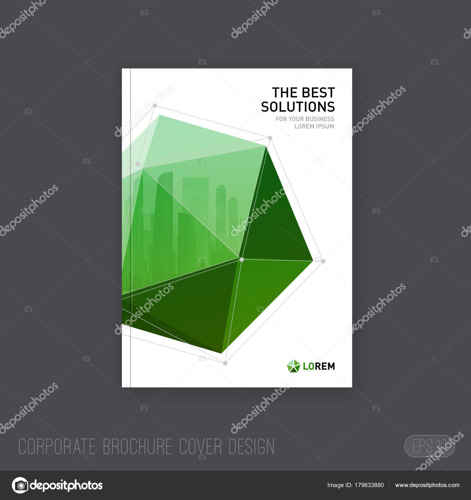 Imagebroschüre-Cover-Design-Vorlage. Gut für Katalog ...