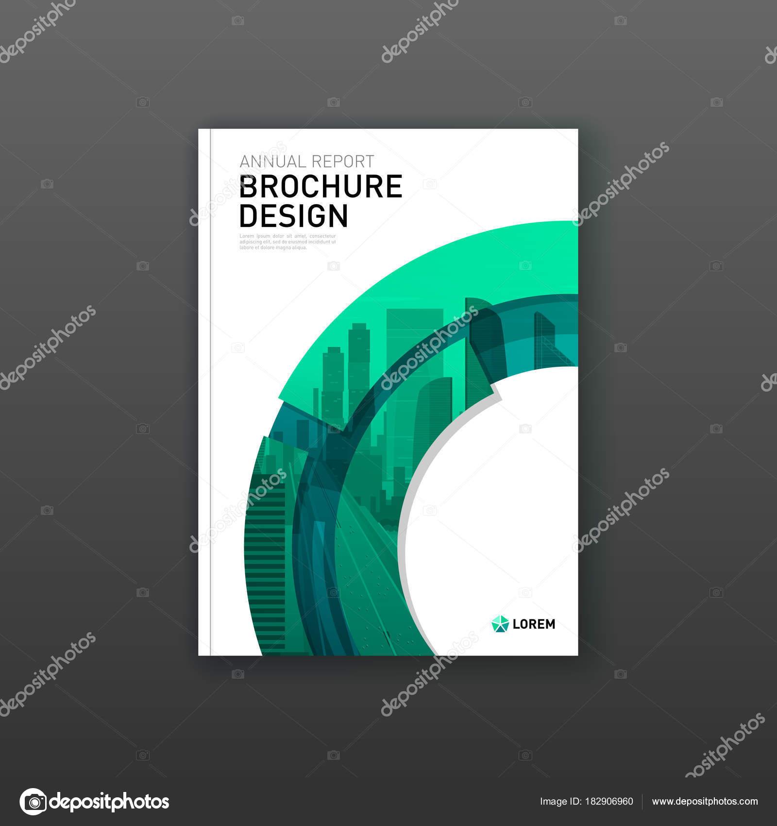 Diseño de portada folleto para negocios y construcción — Vector de ...