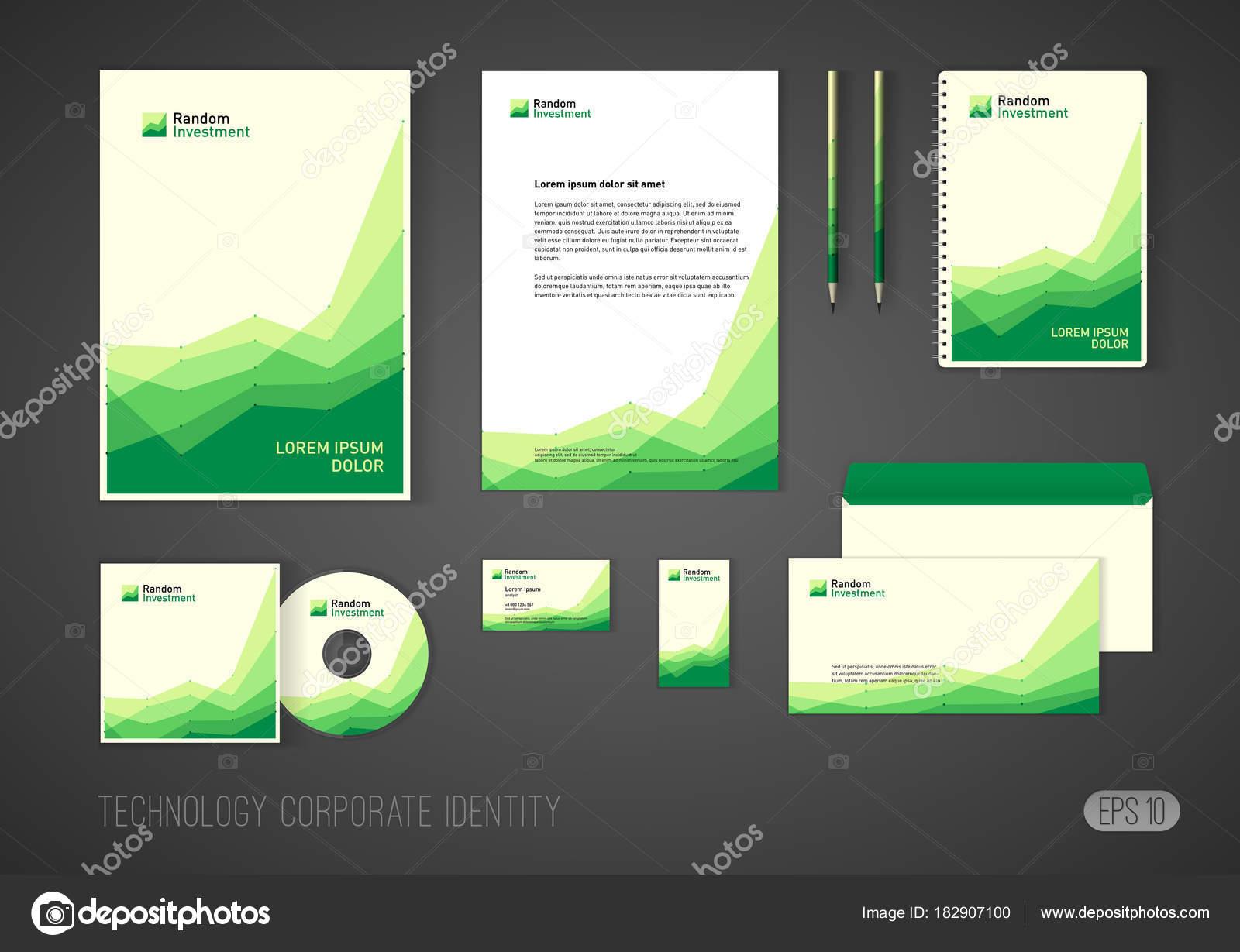 Corporate Identity-Vorlage für Beteiligungsgesellschaft, stilisiert ...