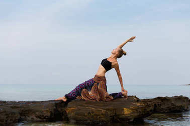 Summer yoga session in Thailand