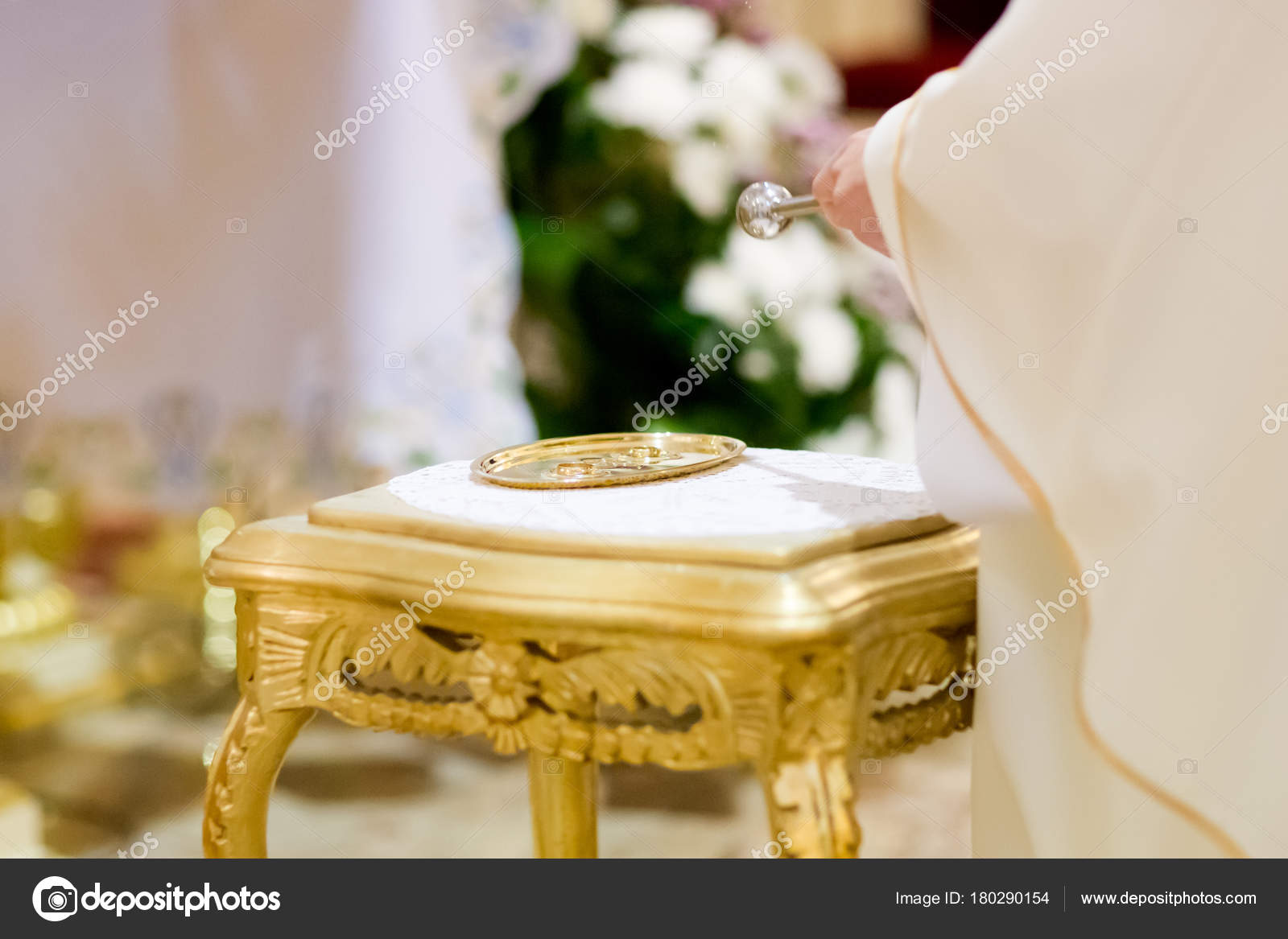 wedding christian detaill blessing free church rings download prist water in image marriage royalty stock of photo traditionally