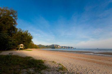 Tropical Nopparattara beach in Krabi