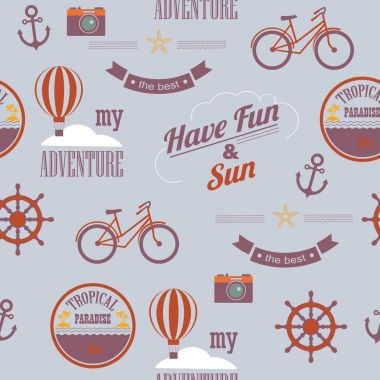 Summer calligraphic designs. newspaper style ,beach vacation, adventure labels
