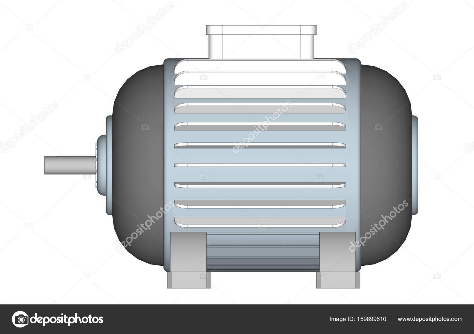 Motor Inducción Diseño Illustrator Motor Eléctrico Sobre Fondo ...