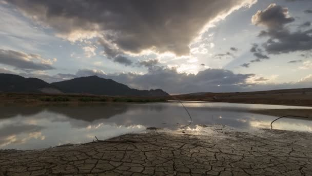 Timelapse evening with cloudy at Mengkuang Dam
