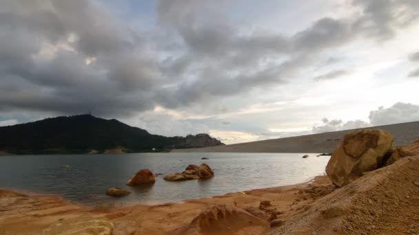 Timelapse over Mengkuang Dam with cloudy sky