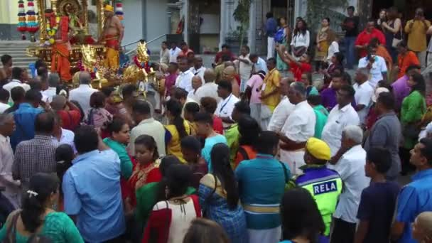 RELA take care the security of the gold chariot procession during Thaipusam.
