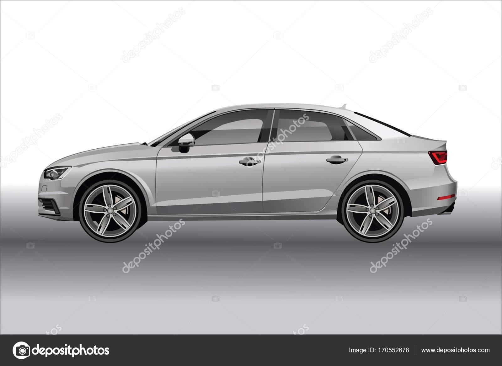 Audi A Side View Stock Vector AlexKlik - Audi car vector