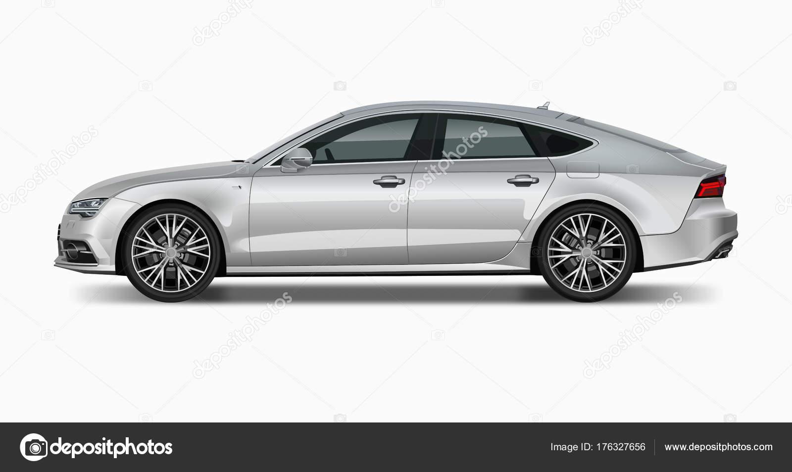 Audi Silver Side View Elit Car Stock Vector AlexKlik - Audi car vector