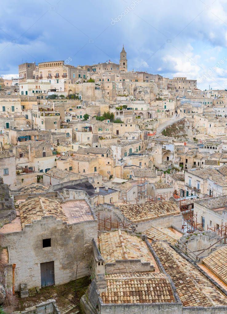 Matera's Sassi panorama - Italy — Stock Photo © jacklondon ...