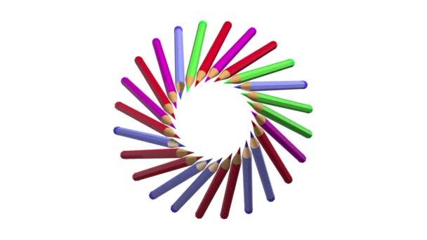 Tužka animovaný na bílém pozadí
