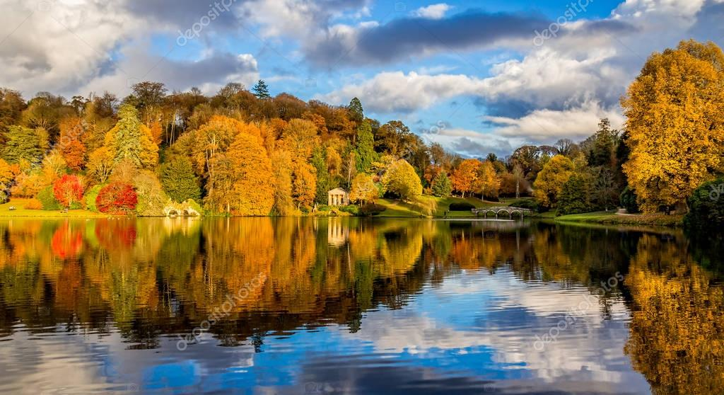 Autumn at Stourhead, Wiltshire in England