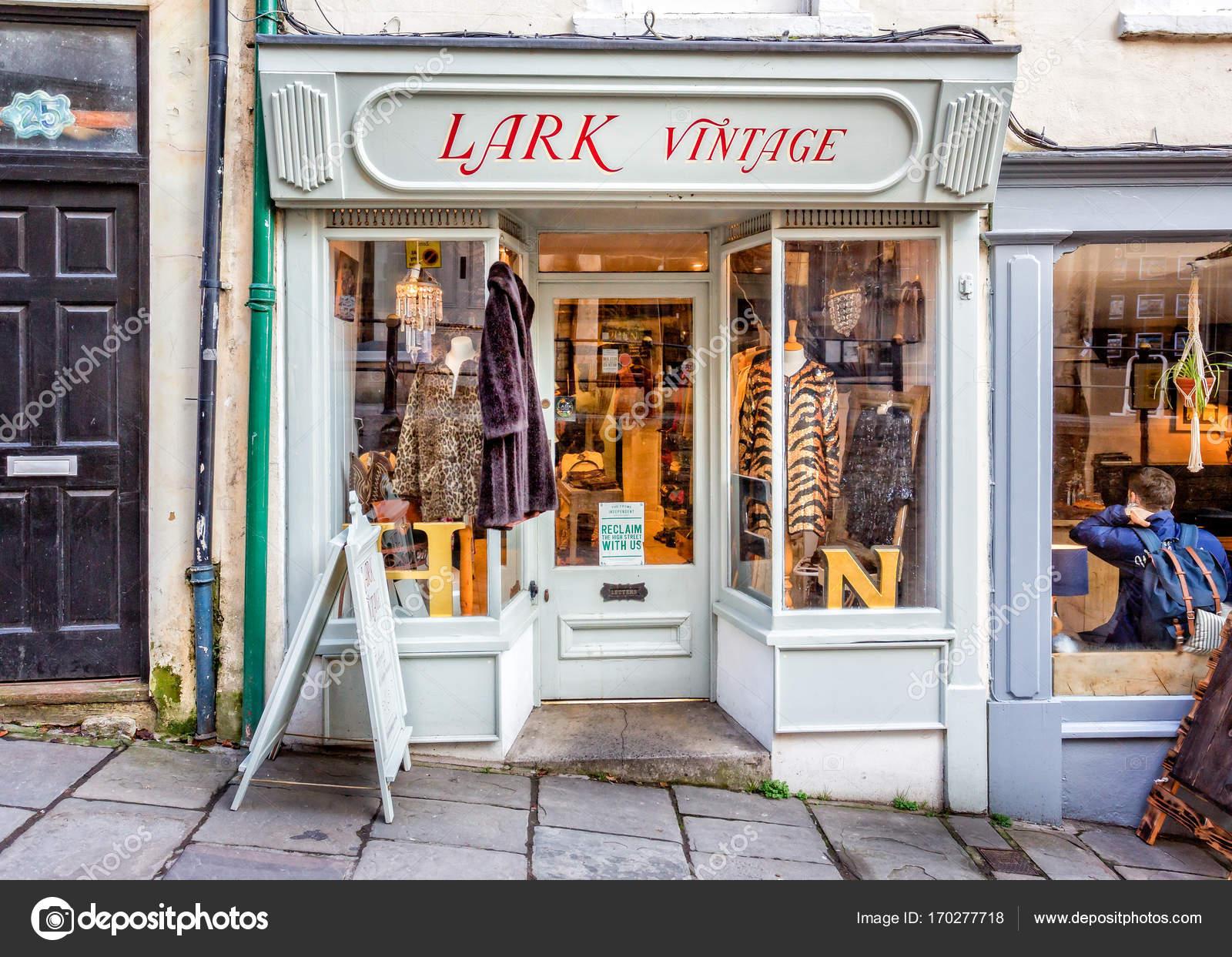 boutique vintage alouette à frome, somerset — photo éditoriale