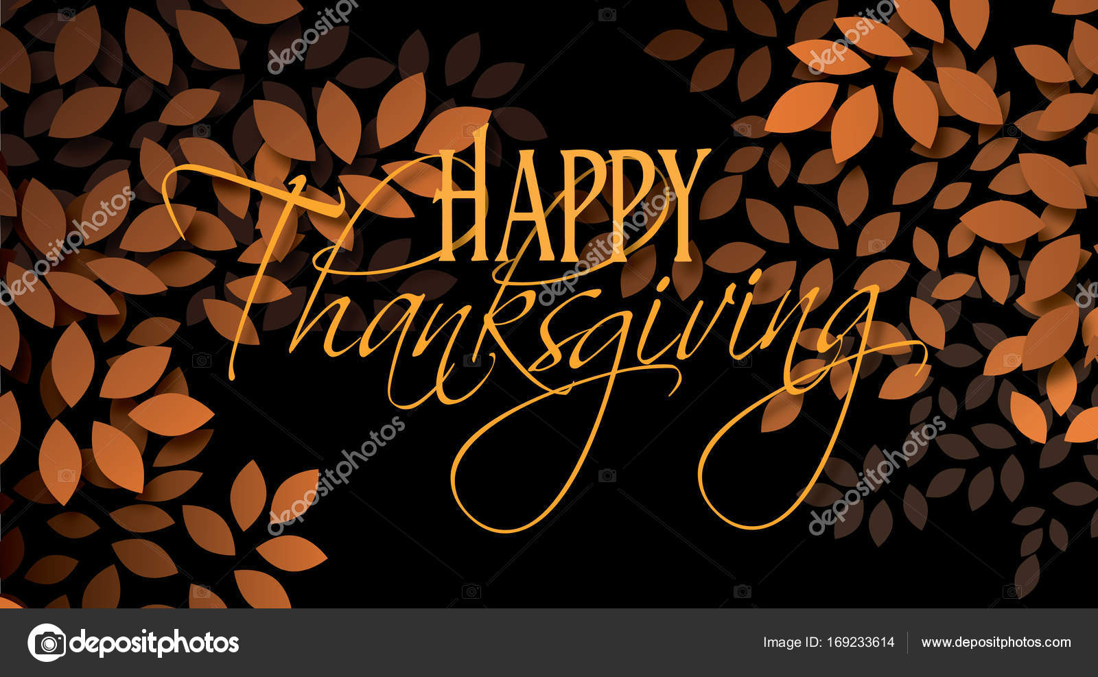 Happy thanksgiving holiday message with leaves stock photo a simple uplifting contemporary design use as stand alone holiday art or possible holiday greeting card m4hsunfo