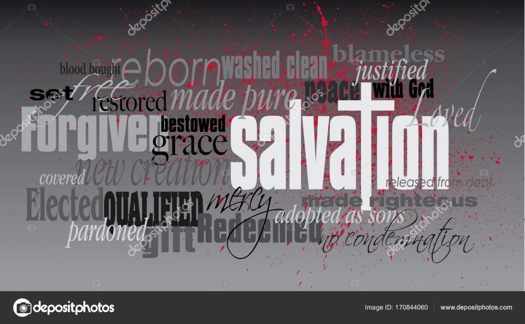 Christian Salvation Wort montage — Stockvektor © GDArts17 #170844060