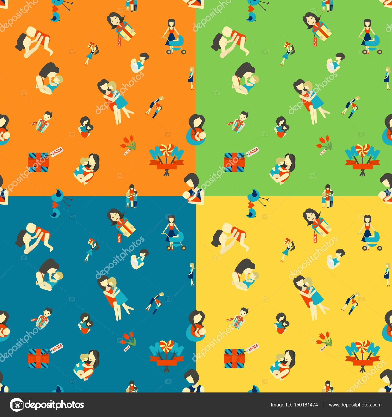 Mütter Tag nahtlose Muster — Stockvektor © HelenStock #150181474