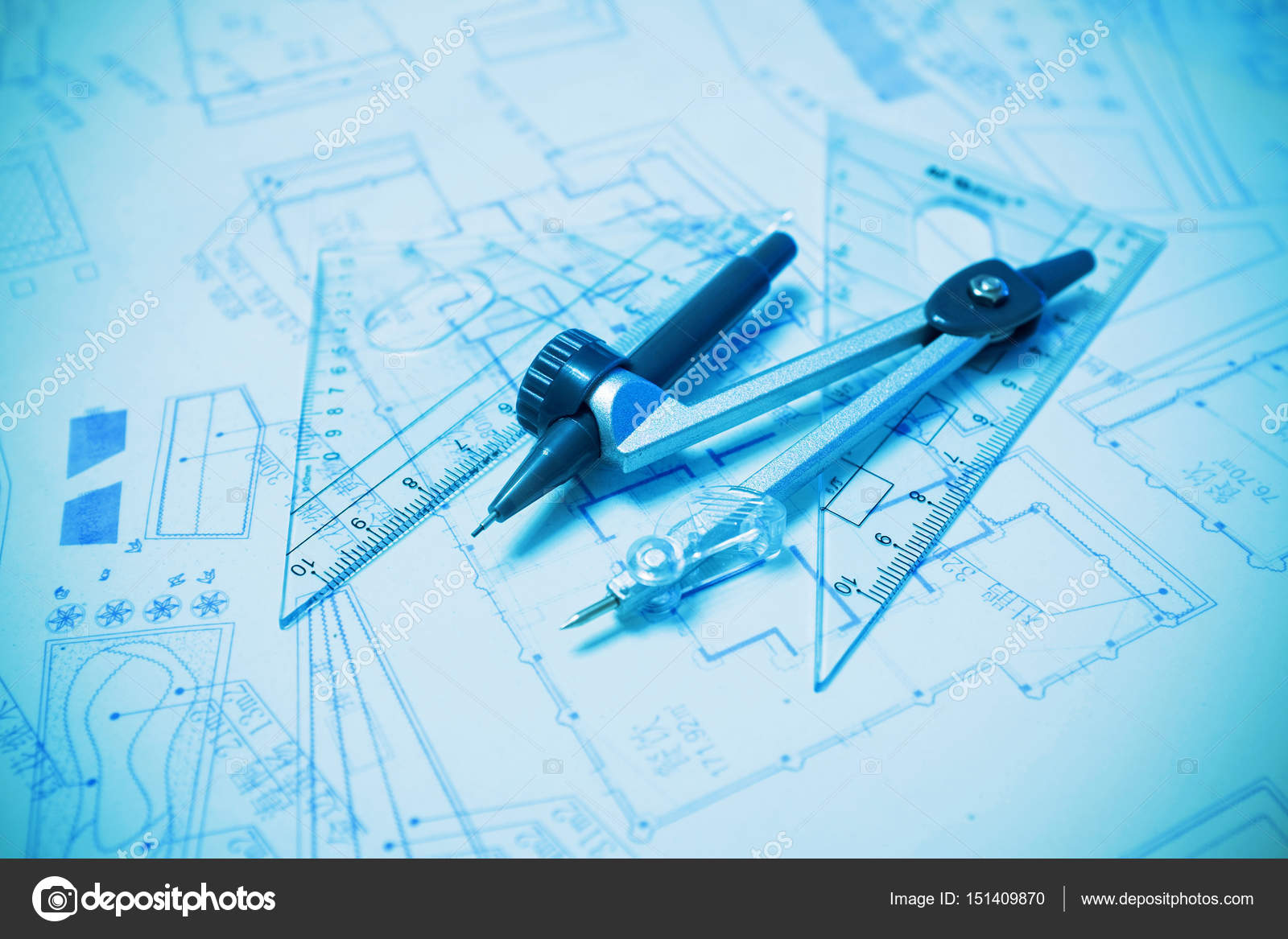Construction planning and drawing tools background blueprint construction planning and drawing tools background blueprint foto de dpp2012 malvernweather Image collections