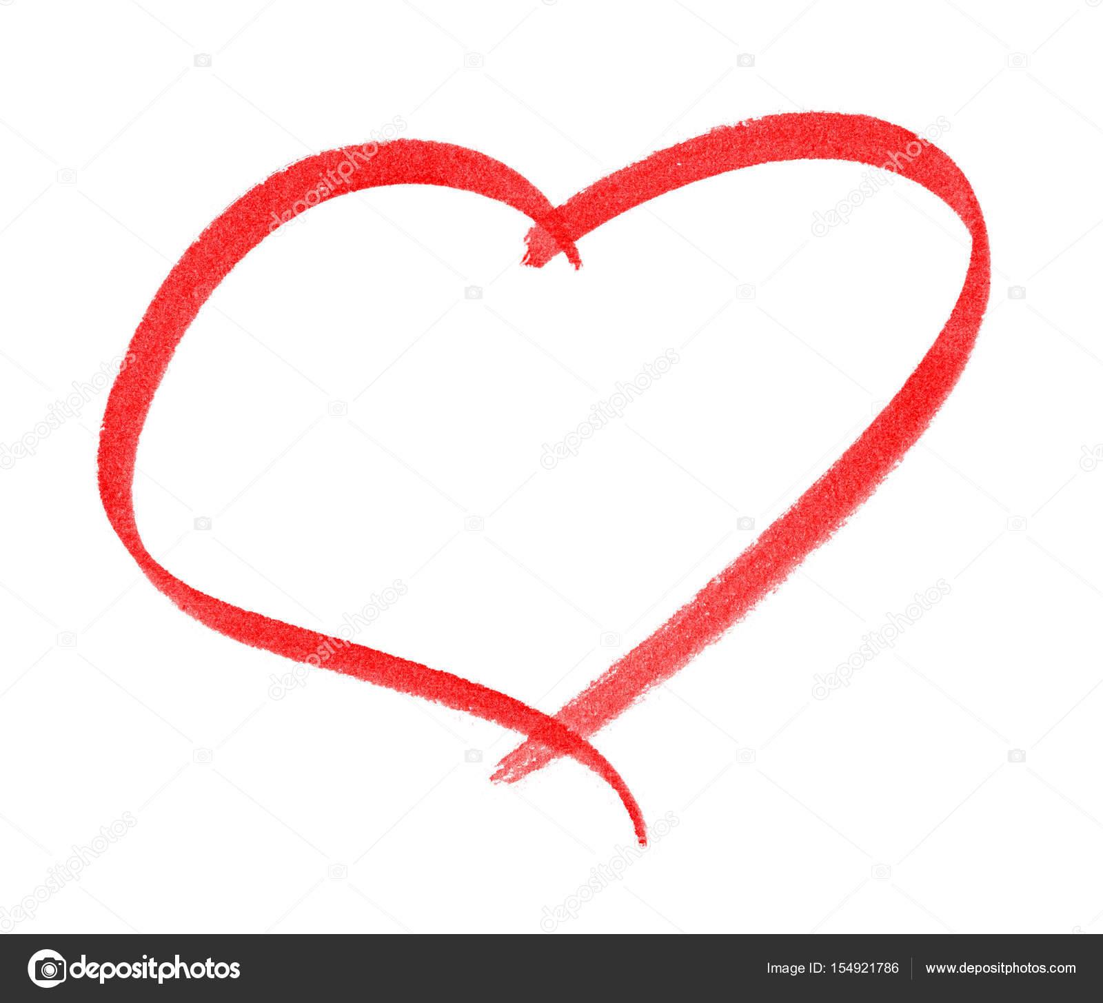 Kalp şekli çerçeve Beyaz Arka Plan üzerinde Izole Fırça Boyama