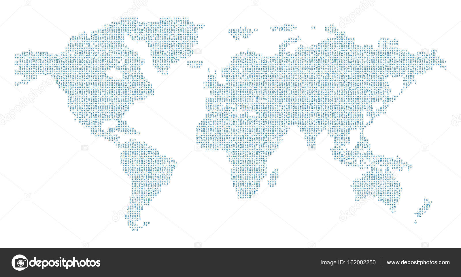 Vector world map with english alphabet stock vector dpp2012 vector world map with english alphabet stock vector gumiabroncs Images