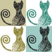 Fényképek Cats.Ethnic design vektor illusztráció. Absztrakt. Egyiptom. Zentangle design gyerekeknek és felnőtteknek