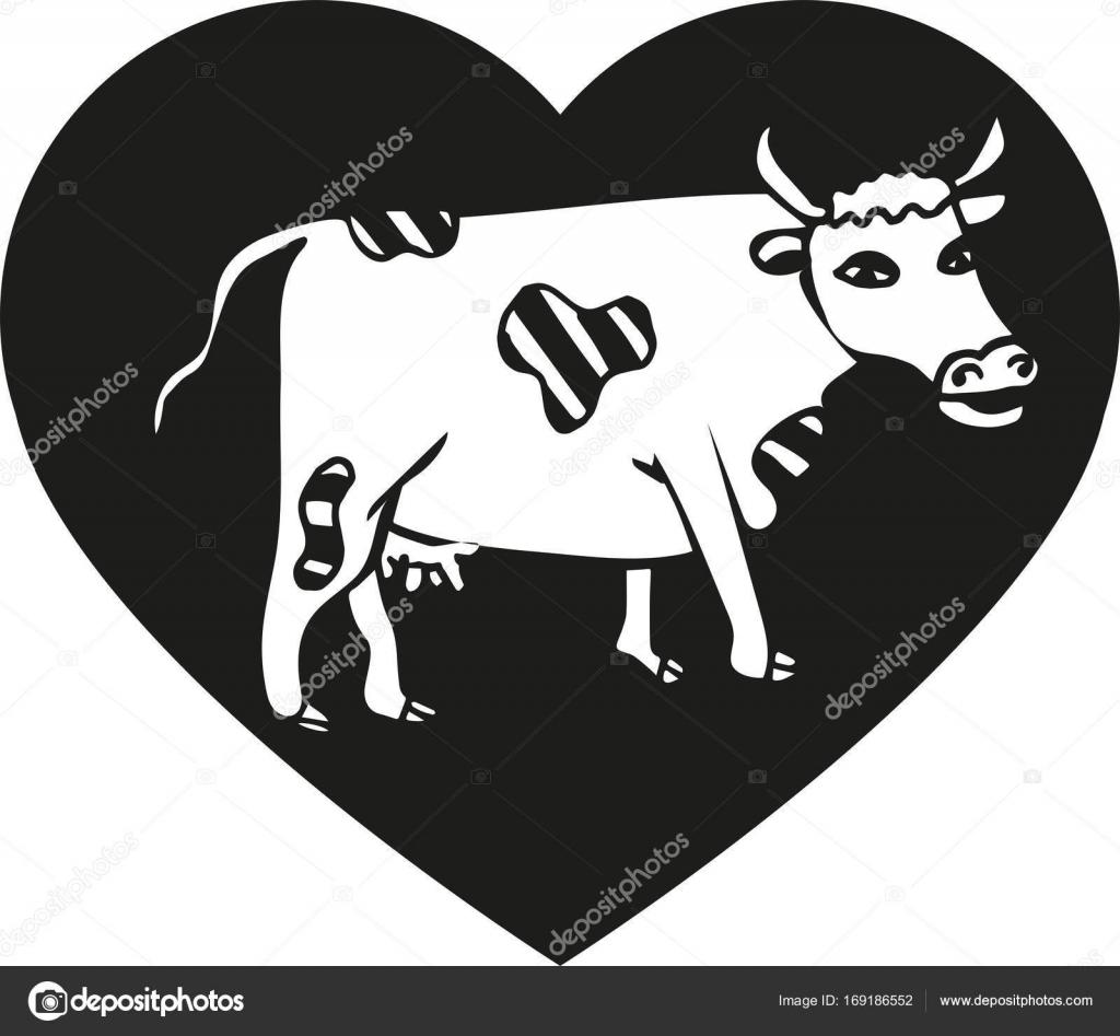 Cute cow  Logo for farm  — Stock Vector © Anastasia_Zh
