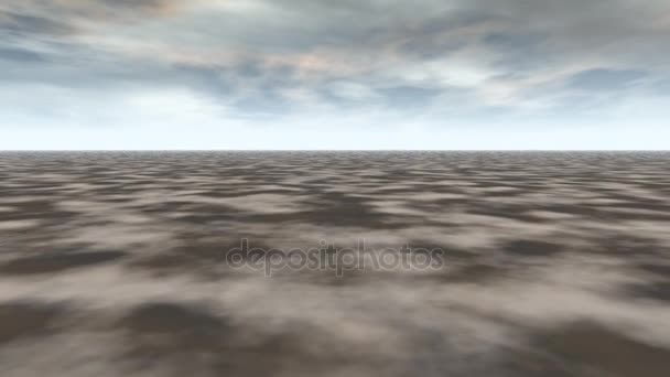 abstract landscape grey ground and blue sky