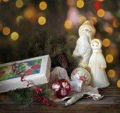 Vánoční pozadí. Výzdoba na Vánoce
