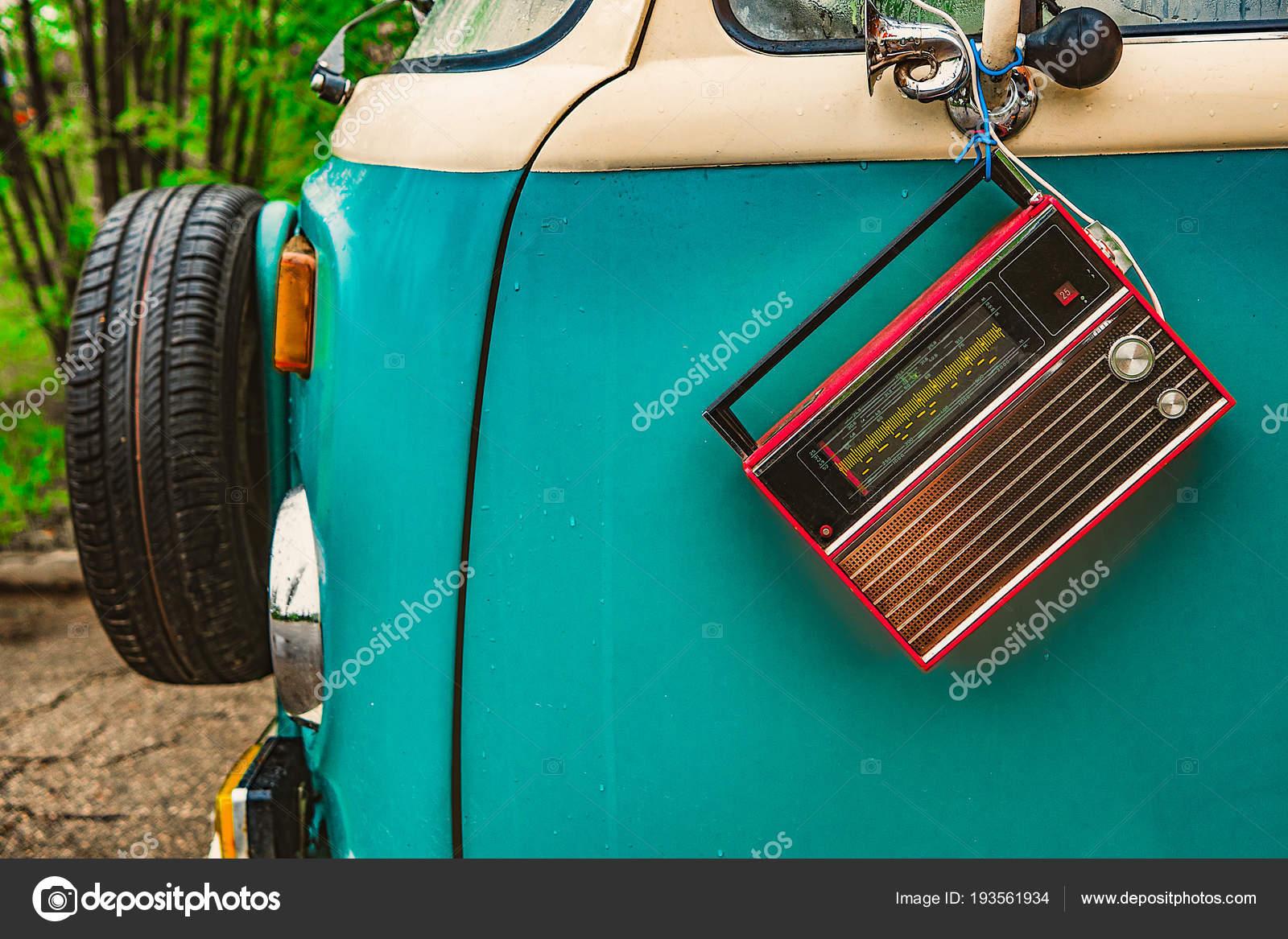 Old Hippie Wagon Radio Door Stock Photo Btxstudio 193561934