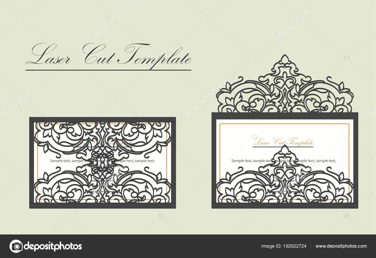 Digital Vector File For Laser Cutting The Envelope Is An