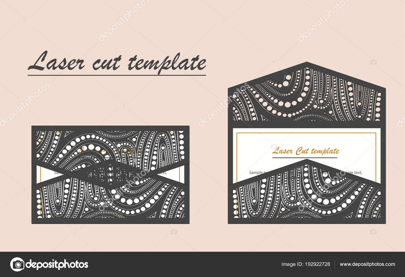 Digital vector file for laser cutting the envelope is an invitation digital vector file for laser cutting swirly ornate wedding invitation envelope vector by yaroslavna2408 stopboris Gallery