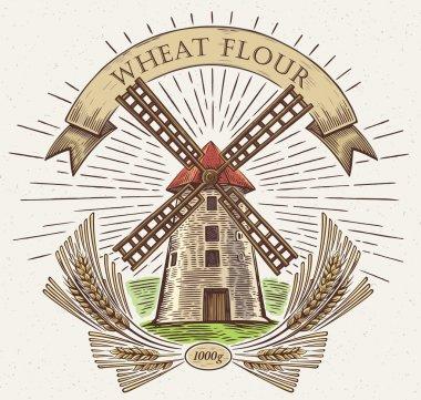 Farm old windmill