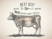 Photo fresh beef meat logo