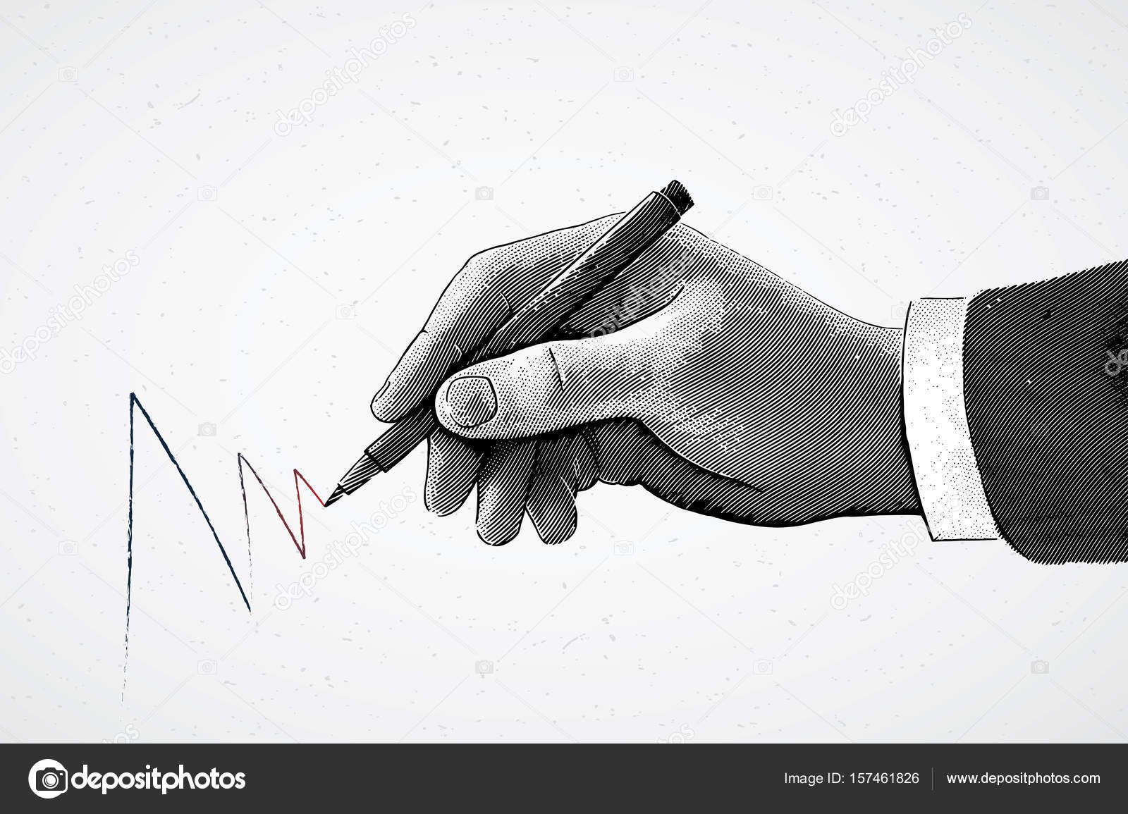 Line Drawing Holding Hands : Hand holding a pencil and drawing line u stock vector crop